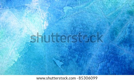 Blue and Turquoise Watercolor Background 5 - stock photo