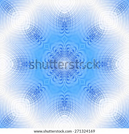 Blue and white background with abstract pattern - stock photo
