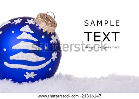 blue and white christmas ornament background (selective focus)