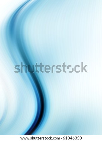 Blue and white dynamic waves. Abstract illustration - stock photo