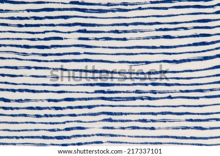 Blue and white fabric texture wave style - stock photo