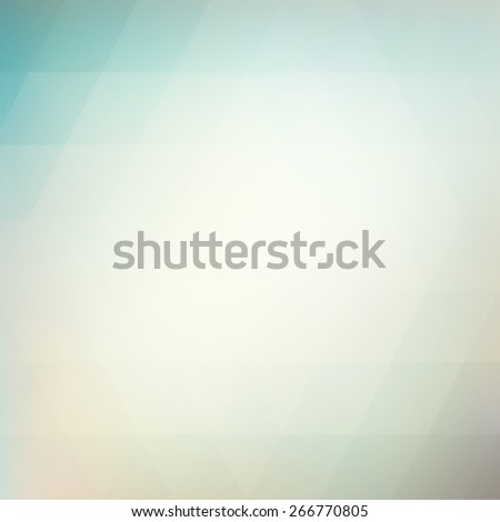 blue and white low poly background with faint line design element pattern of triangles - stock photo
