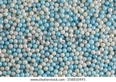 Blue and white round cookie decoration background. - stock photo