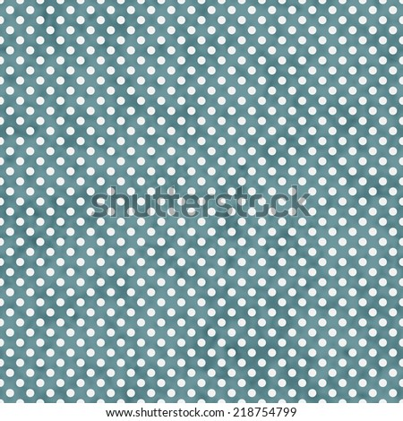 Blue and White Small Polka Dots Pattern Repeat Background that is seamless and repeats - stock photo