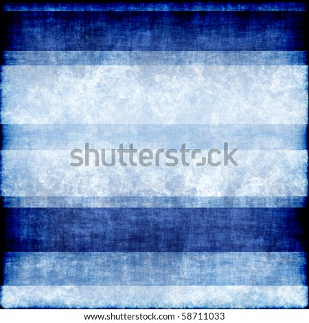 Blue and white striped grunge background - stock photo