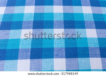blue and white tablecloth fabric texture background