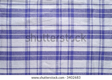 Blue and white tablecloth pattern (3) - stock photo