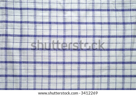 Blue and white tablecloth pattern (2) - stock photo