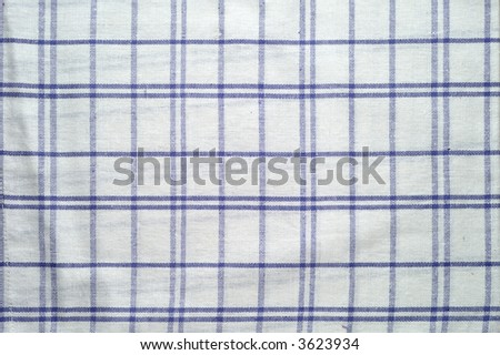 Blue and white tablecloth pattern (1) - stock photo