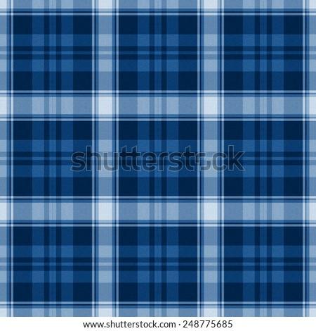 blue and white Tartan textile seamless background  - stock photo