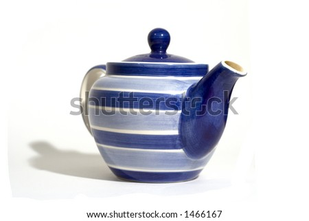 Blue and White Teapot - head on
