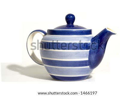 Blue and White Teapot - side on