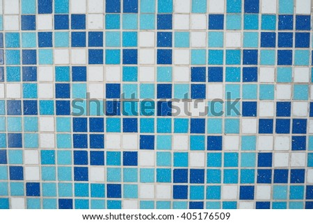 blue and white tile textures.