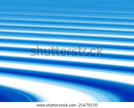 blue and white wave with bright effects. Abstract illustration