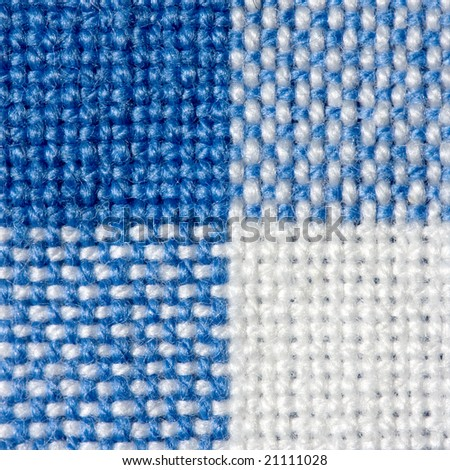 Blue and white wool texture - stock photo