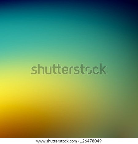 Blue and yellow abstract futuristic background. For creative layout design, scientific illustrations, and web template or site wallpaper - stock photo