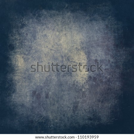 Blue and yellow grunge textured stone background with space for text or image - stock photo