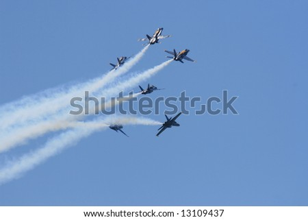Blue angels F18 hornet precision flying team