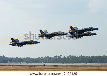 Blue Angels Takeoff Formation
