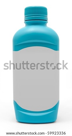 Blue Antacid Medicine Bottle With a Blank white label - stock photo