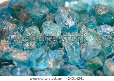 blue apatite mineral texture as natural background - stock photo