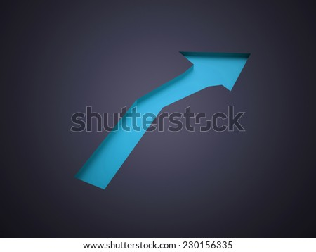 Blue arrow business concept rendered  - stock photo