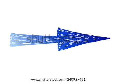 blue arrow silhouette - stock photo