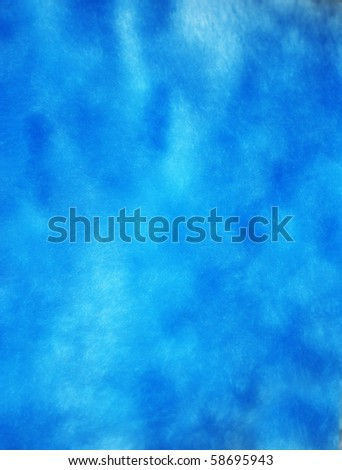 Blue artificial fur for texture or background - stock photo