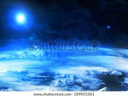 Blue Atmosphere  - stock photo