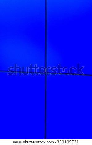 Blue background in four sections with minimal texture - stock photo