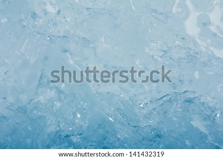 blue background of cold ice - stock photo
