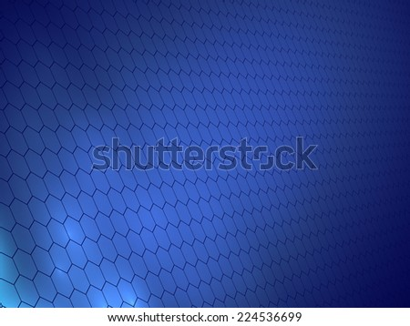 blue background of hexagons - stock photo