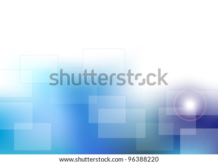 Blue background, rectangle style with reflection
