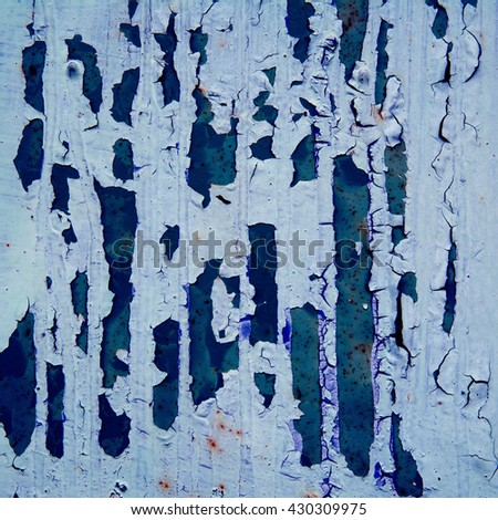 blue background rusty metal panel painted