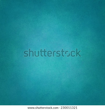 blue background, solid color with faint distressed vintage texture and darker vignette border - stock photo