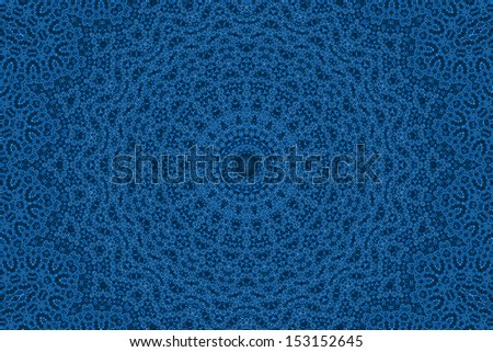 Blue background with abstract radial pattern
