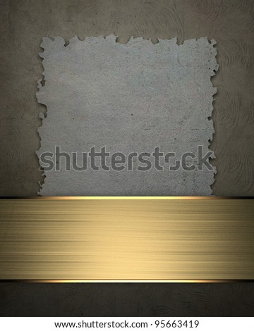 Blue Background with Gold Band