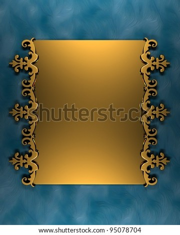 Blue Background with Golden Band