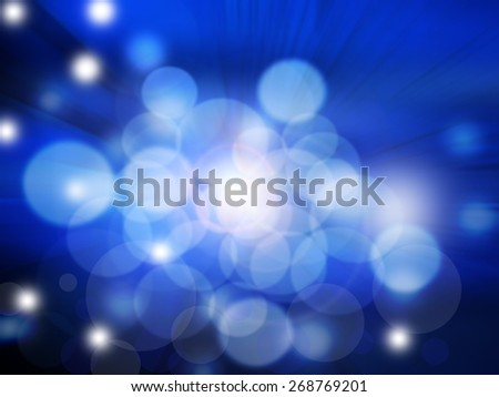 Blue background with stars and bokeh lights