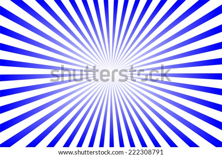 blue background with sun rays. - stock photo