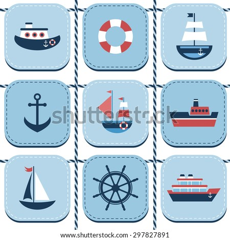 blue background with water transport. Raster version - stock photo