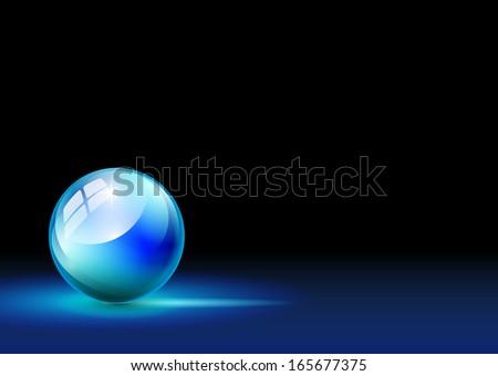 blue ball background - stock photo