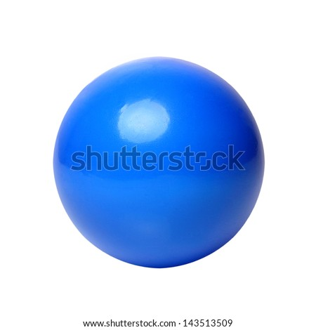 Blue ball on white background. Outline paths for easy outlining. Great for templates, icon background, interface buttons. - stock photo