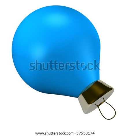 Blue ball, which is used to decorate a Christmas tree in the new year