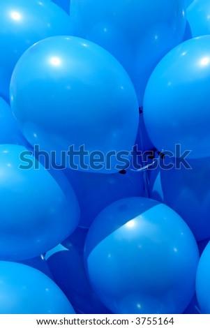 Blue balloons - stock photo
