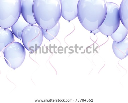 blue balloons - stock photo