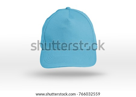 Blue Baseball Cap on a white background