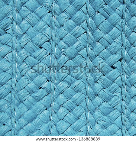 blue basket texture or background - stock photo
