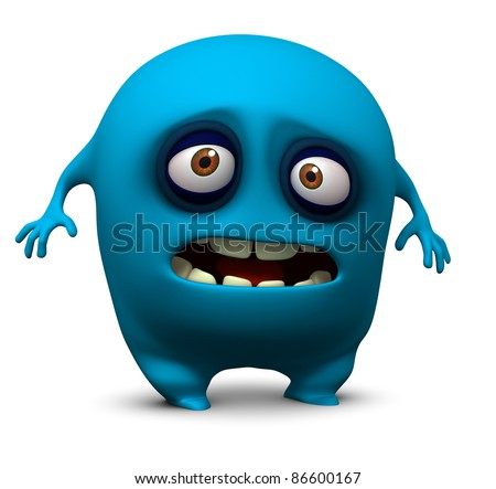 blue beast - stock photo