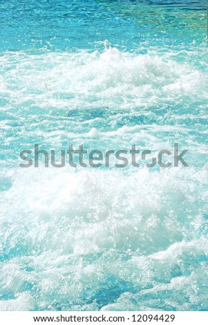 Blue beautiful water in the swimming pool. - stock photo